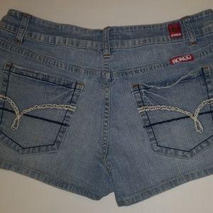 BONGO Denim Shorts size 7 Light wash Shorty Jean